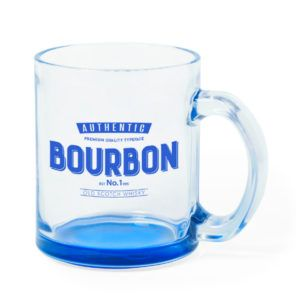 Taza Cristal Base de Color 350ml